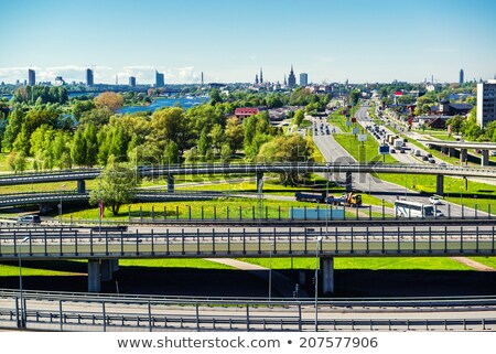 southern bridge in riga stock photo © benkrut