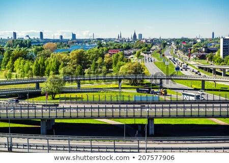 Güney köprü Riga Letonya seyahat ufuk çizgisi Stok fotoğraf © benkrut