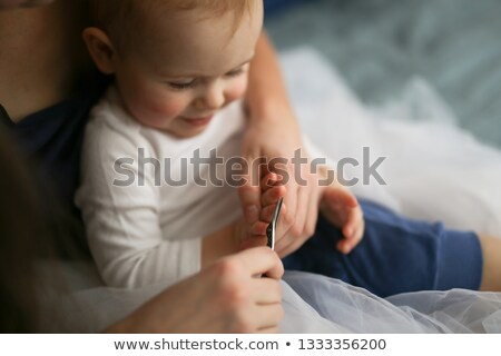 Mother cutting son?s hair Stock photo © IS2