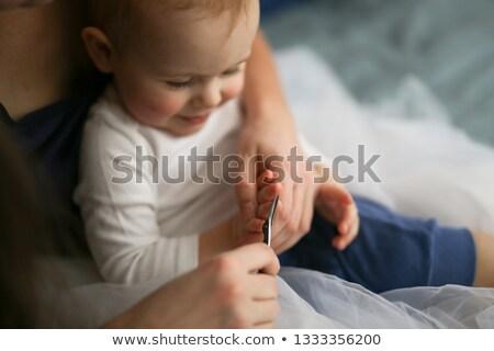 Anya vág haj nő család szeretet Stock fotó © IS2