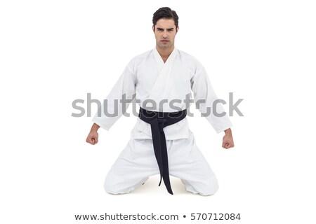 Karate speler permanente fitness studio portret Stockfoto © wavebreak_media