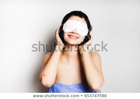 Młoda kobieta oka żel kobieta niebieski Zdjęcia stock © IS2