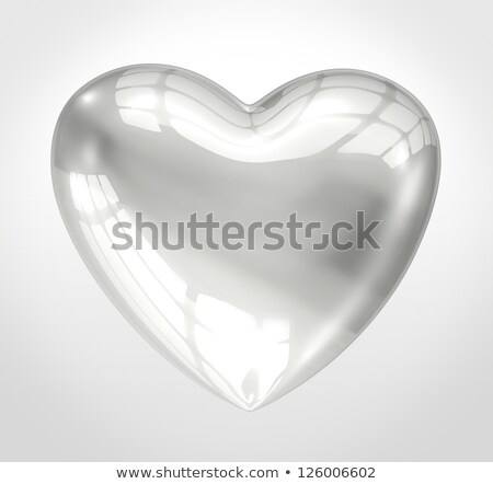 glass hearts on silver Stock photo © lubavnel