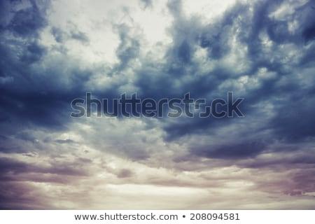 Drámai felhőkép felhők égbolt felhős nap Stock fotó © lunamarina