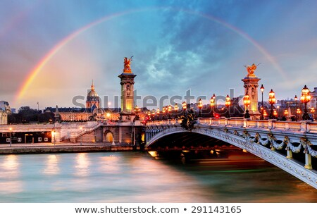night over bridge alexandre iii stock photo © givaga