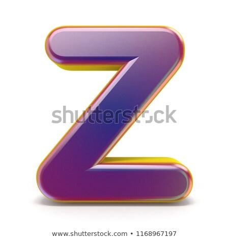 письме · Purple · шрифт · желтый · 3D - Сток-фото © djmilic