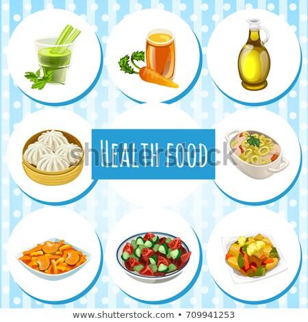 conjunto · útil · orgânico · naturalismo · comida · alimentação · saudável - foto stock © Lady-Luck