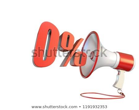 0 percent sign and megaphone 3D Stock photo © djmilic