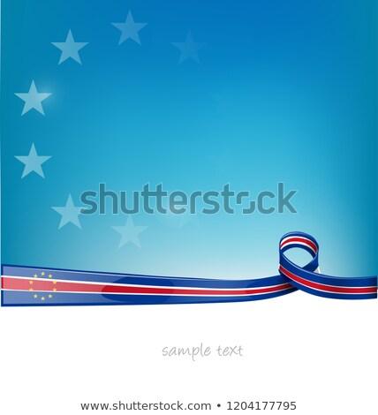 лента флаг Blue Sky аннотация дизайна искусства Сток-фото © doomko