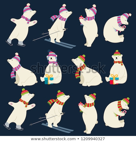 Stock fotó: Sarki · medvék · gyűjtemény · karácsony · dizájnok · izolált