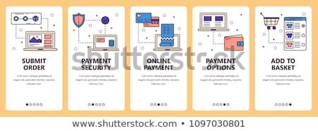Online pagamento moderno line design stile Foto d'archivio © Decorwithme