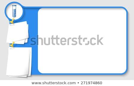 Border design with science beakers Stock photo © colematt