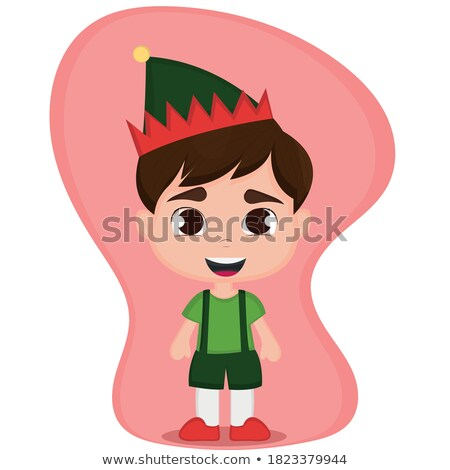 Cartoon Angry Robin Hood Boy Stock photo © cthoman