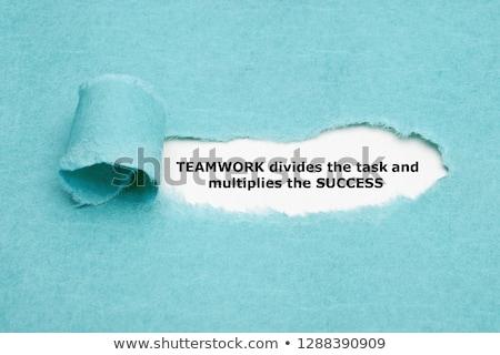 Teamwerk taak succes citaat achter Stockfoto © ivelin