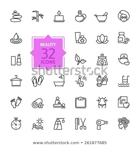 schoonheidssalon · web · icons · gebruiker · interface · ontwerp - stockfoto © robuart