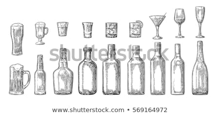 Vidrio taza aislado blanco dibujo Foto stock © robuart