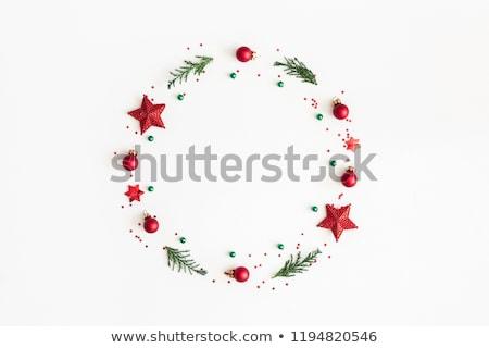 Minimális karácsony elrendezés ünnepi terv fenyőfa Stock fotó © solarseven