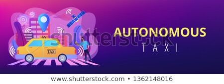Autonomous taxi concept banner header. Stock photo © RAStudio