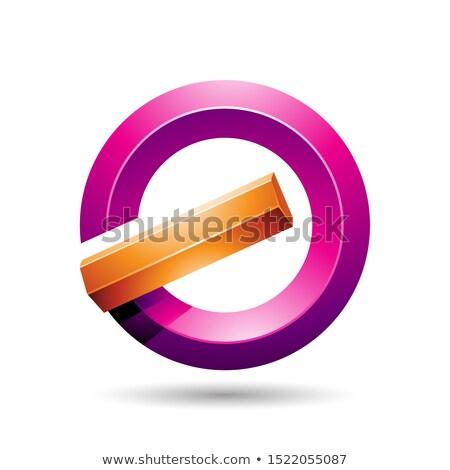 Arancione magenta lucido icona abstract Foto d'archivio © cidepix