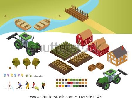 farmer and boat stock photo © colematt