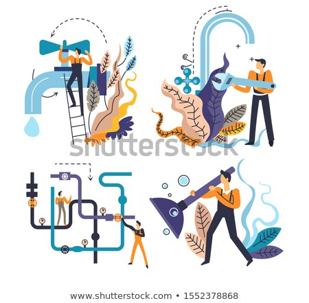 Sewerage system concept vector illustration. Stock photo © RAStudio