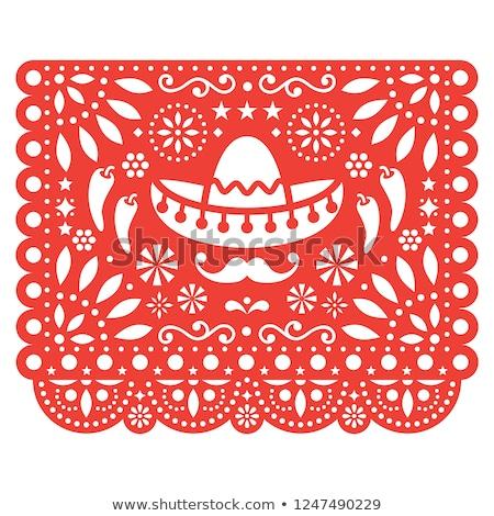 kırmızı · sıcak · beyaz · ikon · logo · tasarımı - stok fotoğraf © redkoala