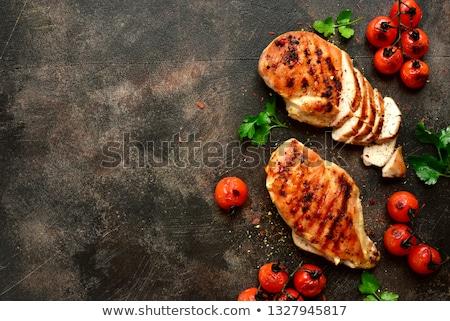 辣椒 · 醬 · 食品 · 黑暗 · 西紅柿 · 熱 - 商業照片 © alex9500