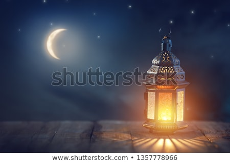 Arab lámpás égő gyertya díszítő izzó Stock fotó © choreograph