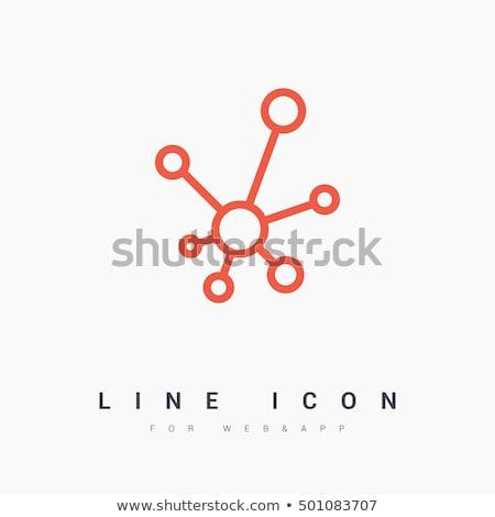 Vector icon moleculair structuur Stockfoto © kyryloff