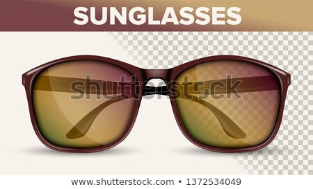 Oversized Wayfarer Sunglasses, Trendy Vector 3D Shades Stock fotó © pikepicture