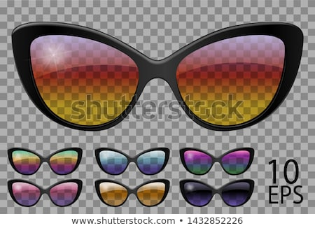 Cat Eye Sunglasses, Trendy Vector 3D Shades Stock photo © pikepicture