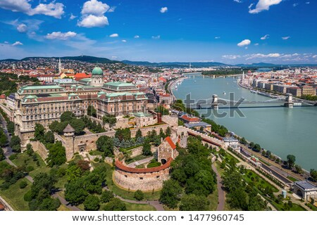 Budapest historic landmarks and Buda Castle view Stock photo © xbrchx