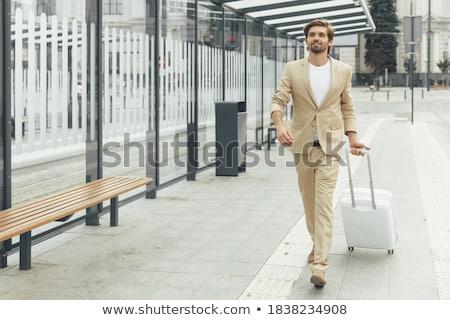 成功した · ビジネスマン · 事務員 · 肖像 · あごひげを生やした · 深刻 - ストックフォト © ElenaBatkova