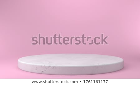 Сток-фото: белый · подиум · сцена · розовый · градиент