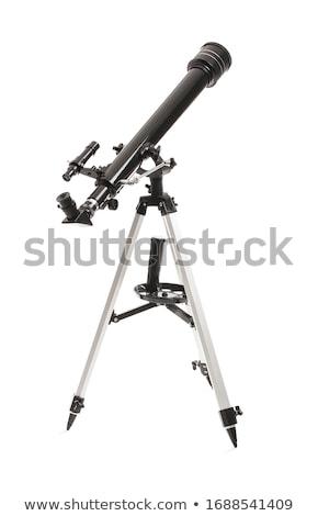 telescopio · illustrazione · scienza · oro · retro · ricerca - foto d'archivio © colematt
