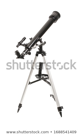 Telescope on white background Stock photo © colematt