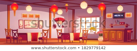 Restaurant Chinese Cuisine Style Interior of Cafe Stock photo © robuart