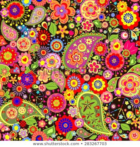 Retro flower power dandelion cobrir eps 10 Foto stock © limbi007