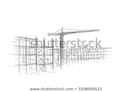 Sketch of construction Stock photo © pressmaster