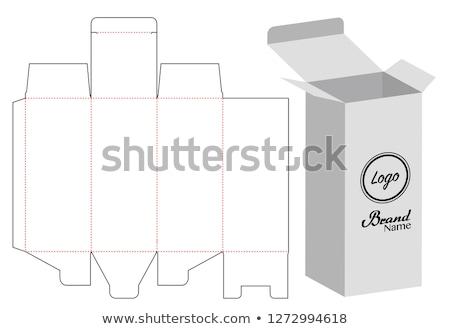 пакет шаблон вектора влажный белый упаковка Сток-фото © netkov1