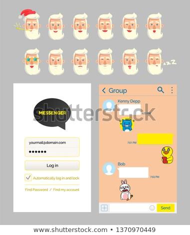 Mensageiro aplicativo conta começar página falar Foto stock © robuart