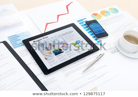 Online workflow beheer website tekst vector Stockfoto © robuart