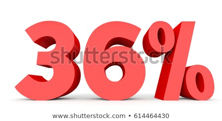 Seis por ciento blanco aislado 3d dinero Foto stock © ISerg