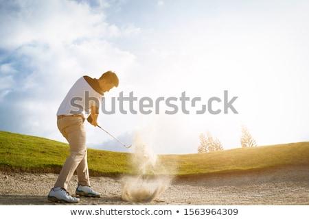 golfçü · akşam · erkek · çekim · top - stok fotoğraf © lichtmeister