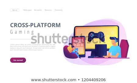 Cross-platform play landing page template. Stock photo © RAStudio