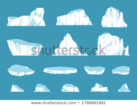Glacier Icy Rock Floating On Sea Water Vector Stock photo © pikepicture