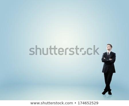 человека глядя вперед бизнесмен бинокль Сток-фото © ra2studio