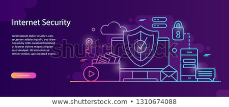 Internet · koruma · kalkan · antivirüs · dizüstü · bilgisayar · güvenlik - stok fotoğraf © rastudio