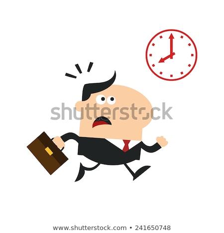 менеджера работает прошлое часы современных дизайна Сток-фото © hittoon