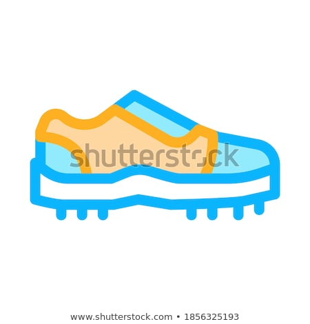 sneakers for cricket icon vector outline illustration stock photo © pikepicture